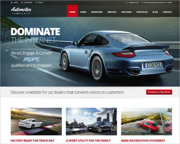 Business Dealership WordPress Template