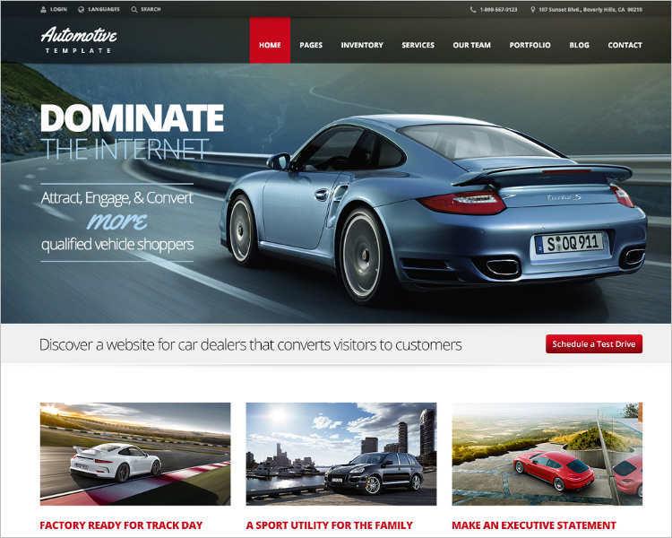 Business Dealership WordPress Template