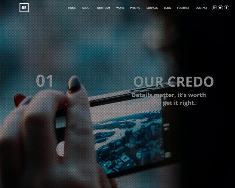 Business Parallax WordPress Theme