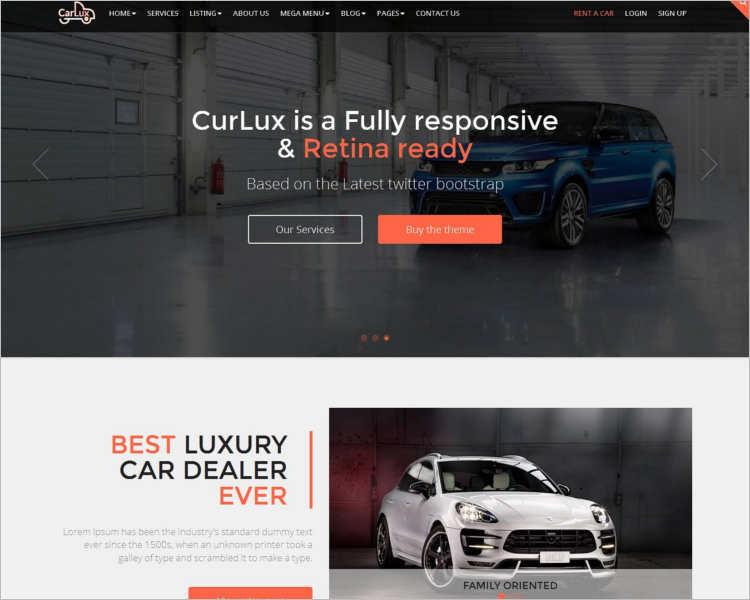 Car Dealer Website Builder template