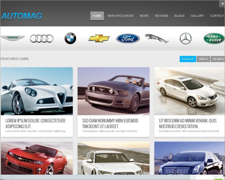 Car Dealer & collection Website Template