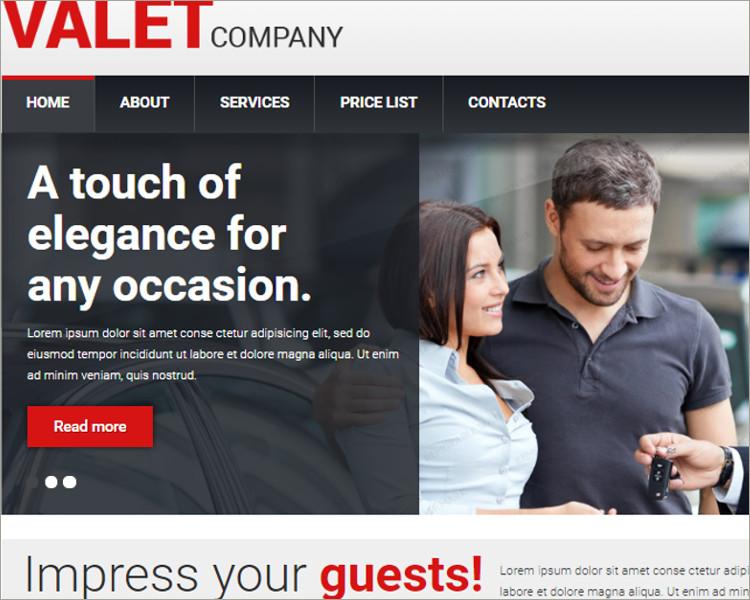 Car Dealer parking Responsive Website Template