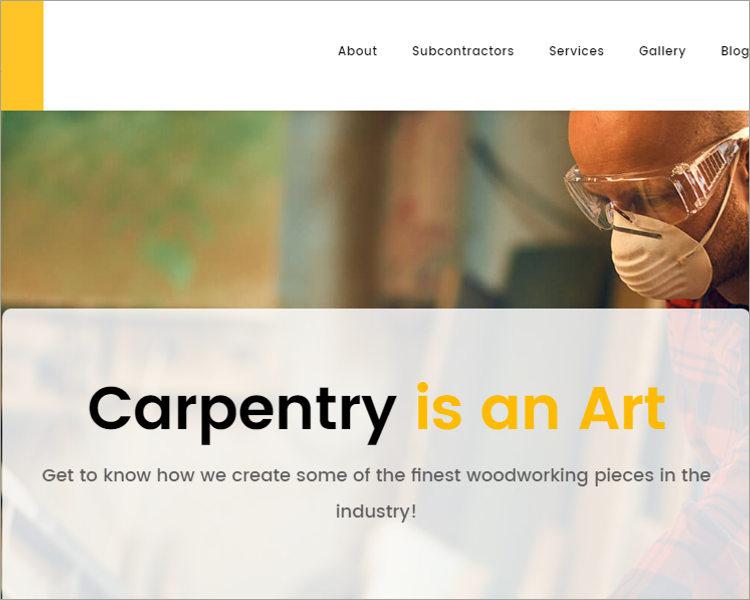 Carpenter & Handyman WordPress Theme