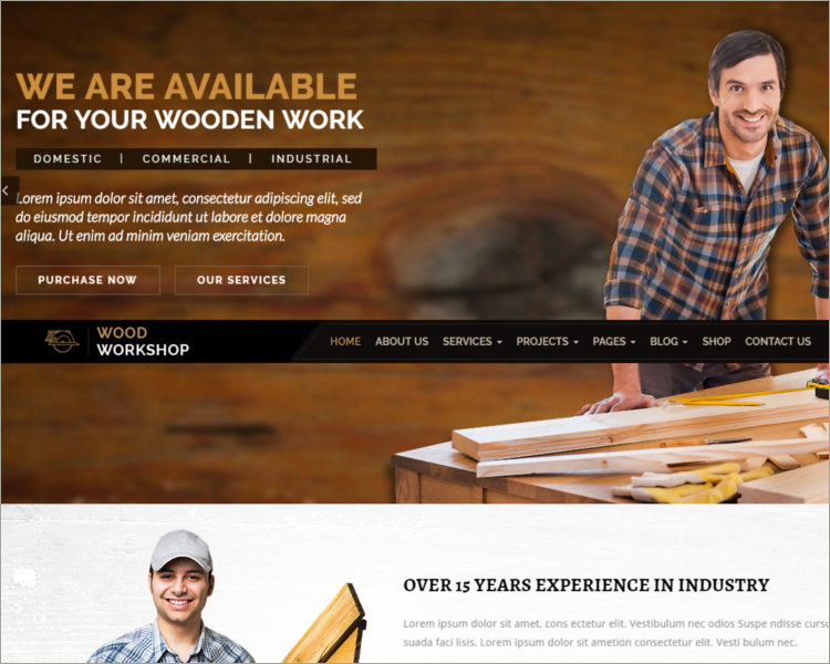 Carpenter and Craftsman WordPress theme
