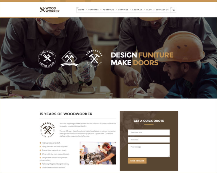 Carpentry WordPress Theme