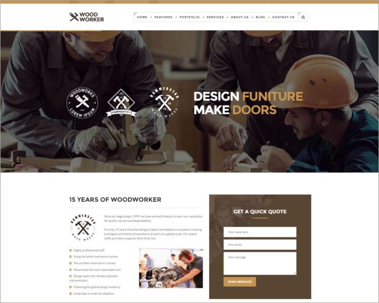 Carpentry WordPress Theme