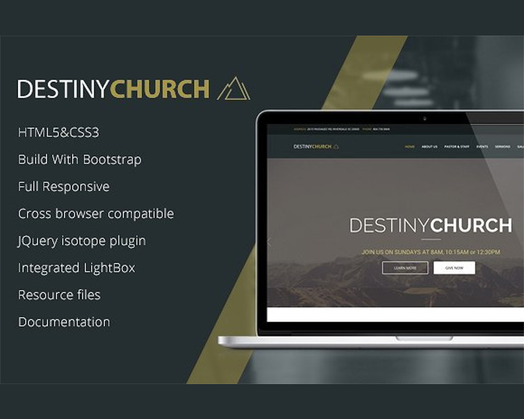 Charity Church Bootstrap Template
