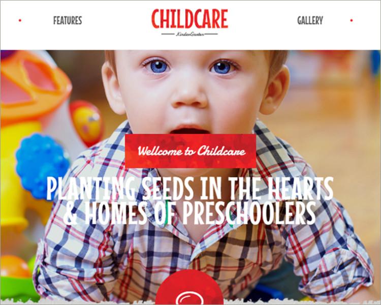 Children & Kindergarten WP Theme 1