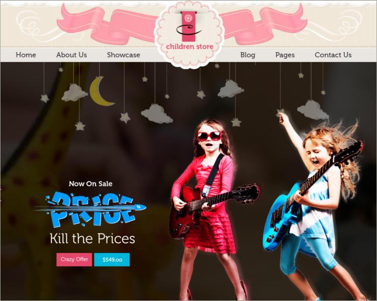 Children Store Responsive WordPress Theme