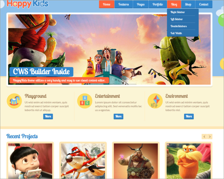 22+ Kids WordPress Themes Free & Premium Templates