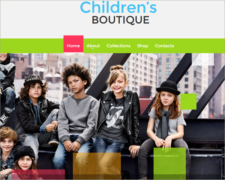 Children's Boutique Website Template