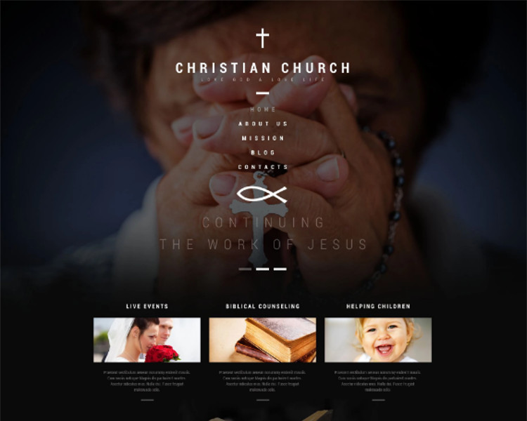 Christian Church Bootstrap Template
