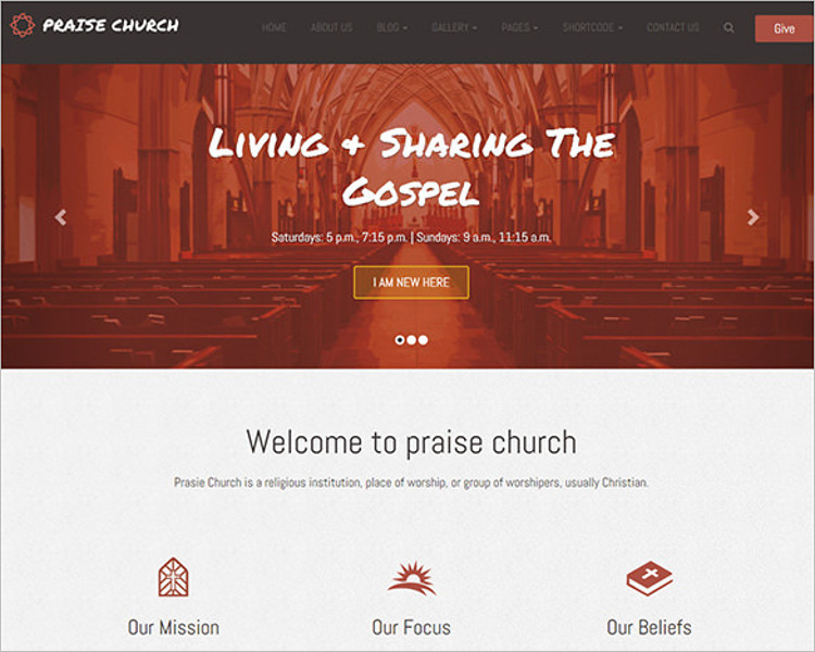 Church Bootstrap Model Template