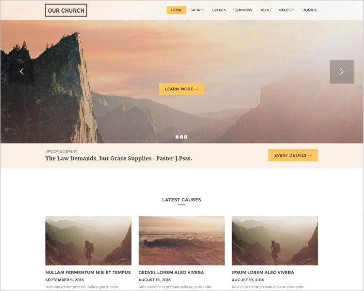 Church Donation Bootstrap Template