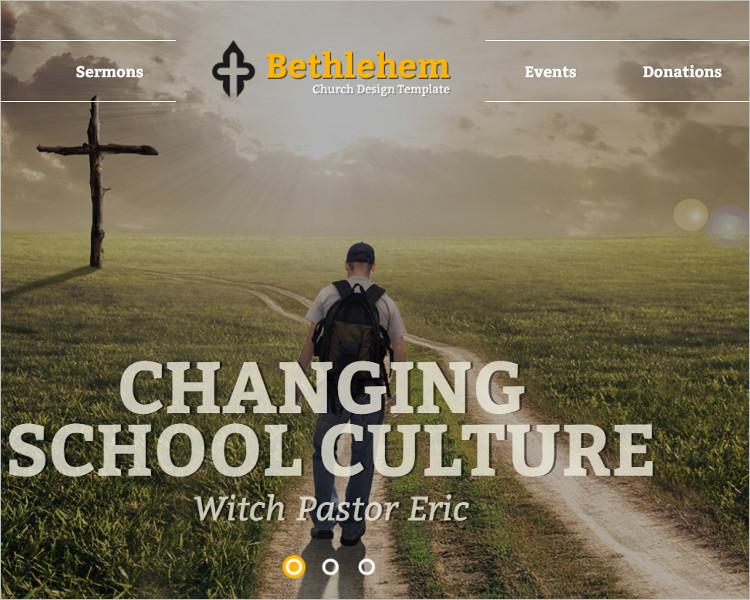 Church school Bootstrap Template