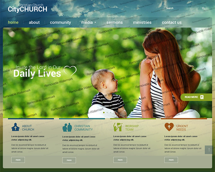 City Church Bootstrap Template