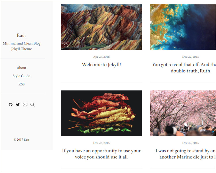 Clean Jekyll Blog Theme