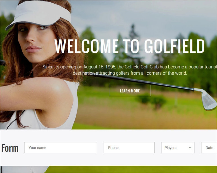 Club Bootstrap Website Template