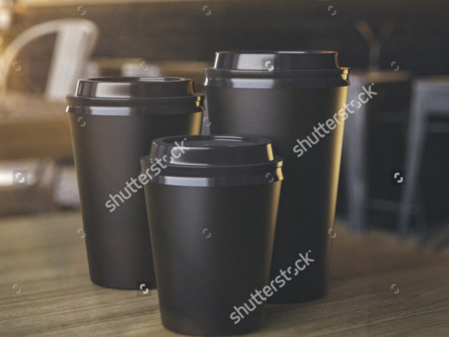 Coffee Lovers Coffee Cups Different Sizes Mockup