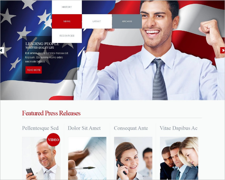 Commerical Political Candidate Joomla Template