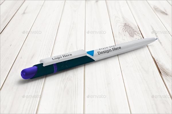 Company Logo Pen Mockup