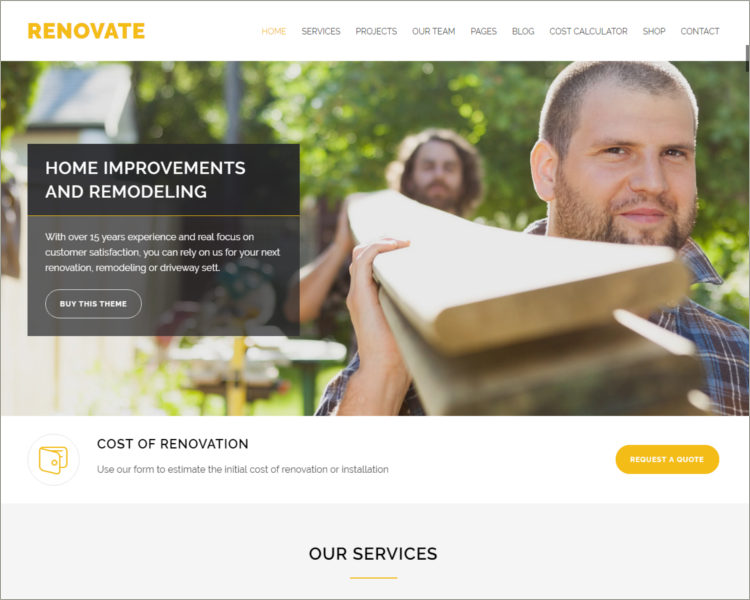 Construction Renovation WordPress Theme