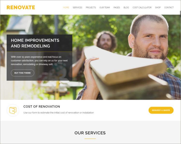 Construction Renovation WordPress Theme