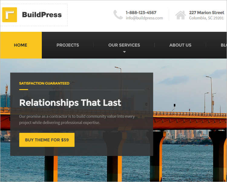 Construction Selling WordPress Theme