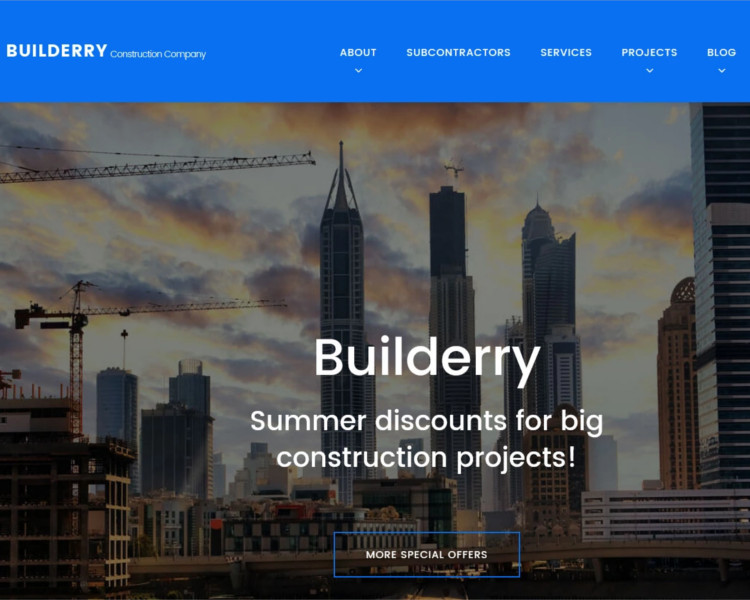 Construction selling WordPress Template