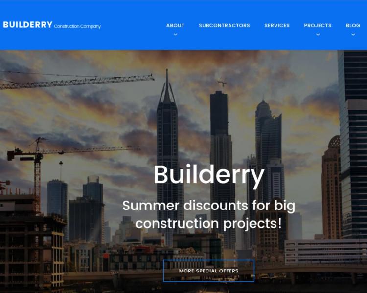 Construction selling WordPress Template
