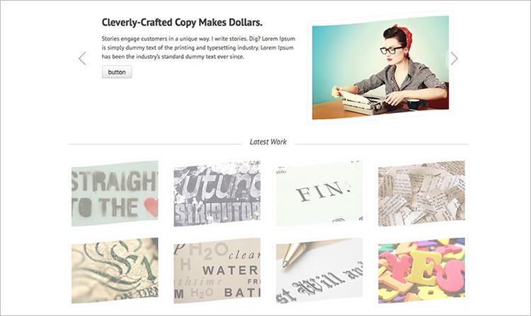 Copywriters Portfolio WordPress Theme Templates