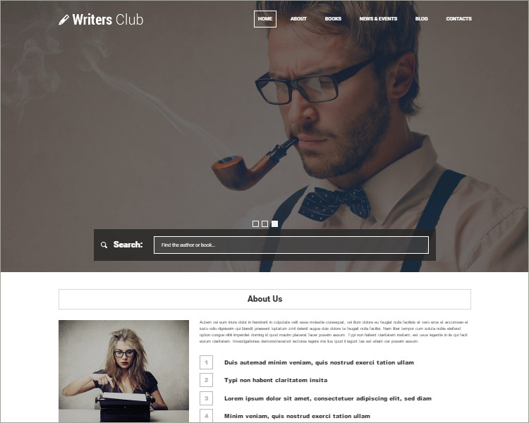 Copywriters WordPress Association Theme Templates