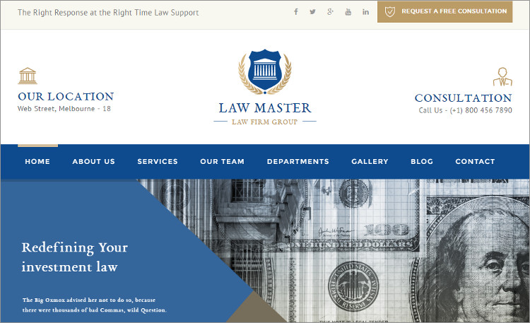 Corporate Law Firm wordPress Theme