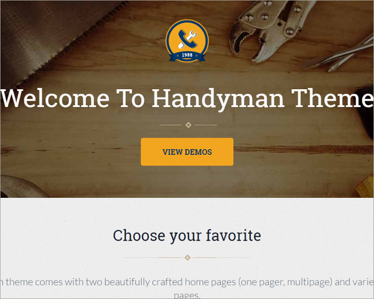 Craftsman Business WordPress Theme