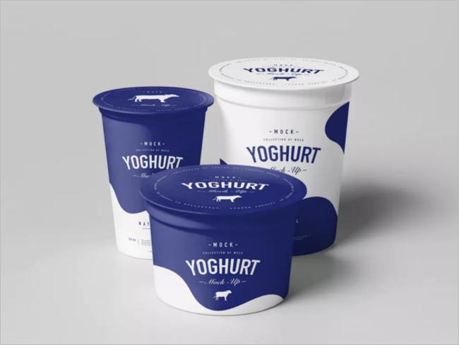 Cream Cup Mockup with Editable PSD