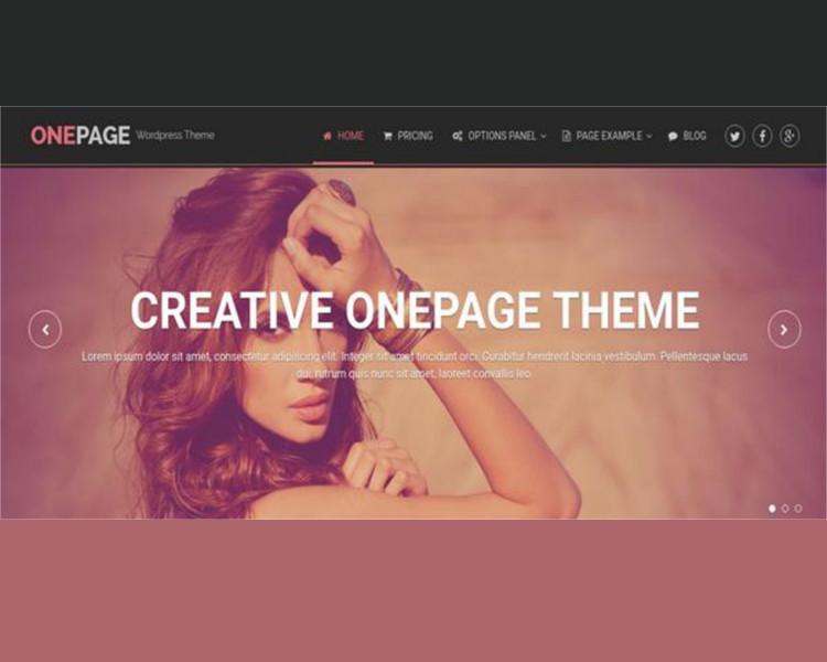 Creative Single Page Website Template