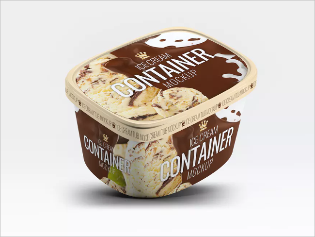 Customizable Ice Cream Packaging Mockup