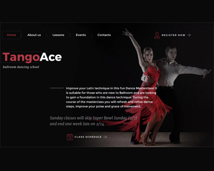 Dance Studio Bootstrape Website Template