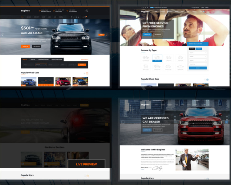 New Car Dealer Website Template Dealership Responsive Site