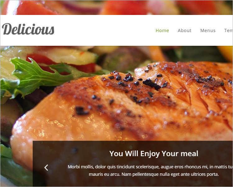 Delicious Food Restaurant WordPress Template
