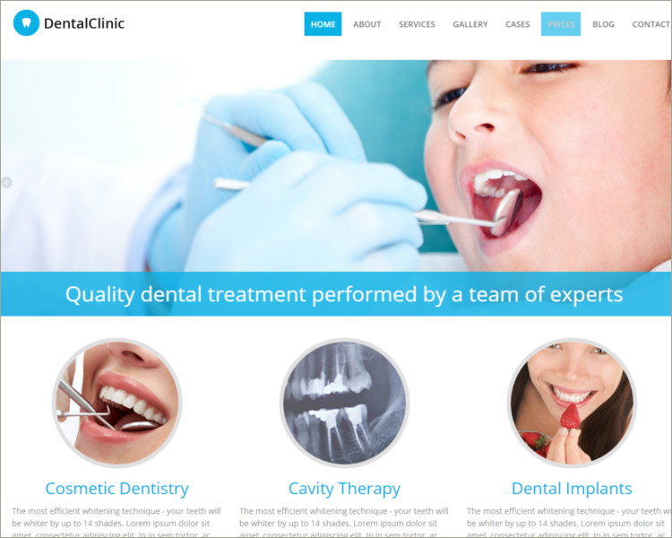 Dental Hospital Acupuncture WordPress Theme