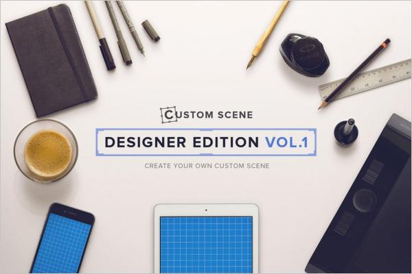 Designer Pen Mockup Template