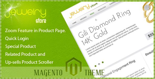 Diomond Jewelry Store Magento Theme