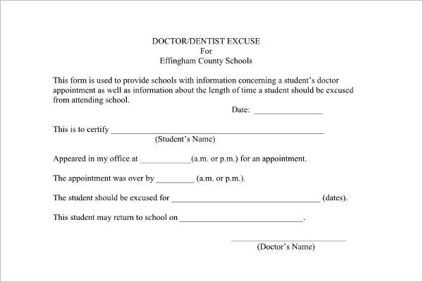 Doctors Note Template Download