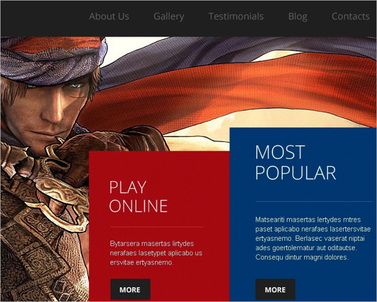 Download Bootstrap game Template