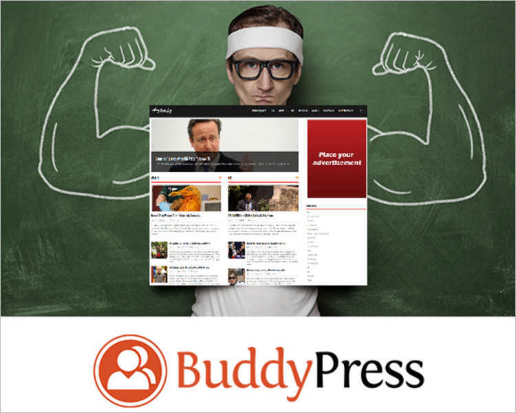 Download BuddyPress wordpress template