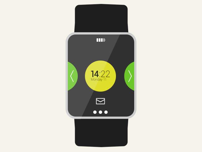 Download Free Vector Flat Smartwatch Mockup