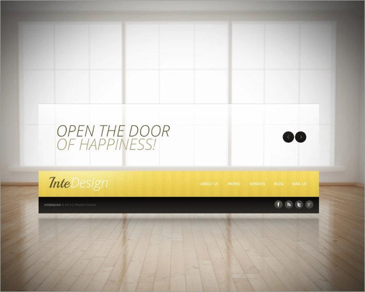 Download Interior Design Website Template