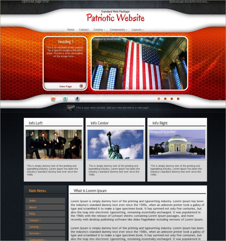 Download Patriotic WordPress Theme
