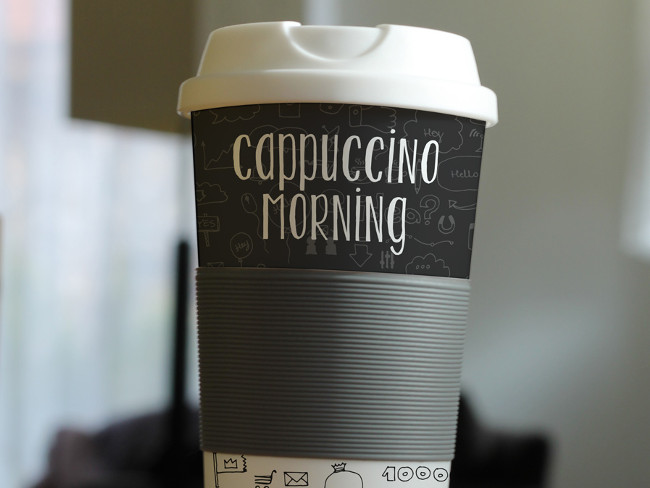 Download Photorealistic Coffee Cup PSD Mockup